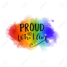 Proud Of Who I Am Inspiration Quote Gay Pride Slogan On 6 Colors
