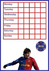 Messi Reward Charts