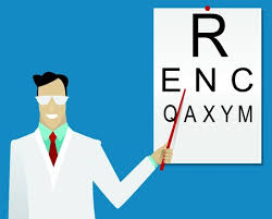 Rms Eye Chart Ophthalmologist Examining Patient Using The Tumbling Eye