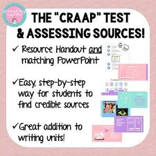 Craap Test Assessing Sources Using The Craap Test