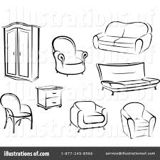 furniture clipart black and white. royalty-free (rf) furniture clipart illustration by vector tradition sm - stock sample black and white k