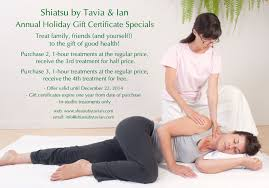 holiday gift certificates they re back shiatsu by tavia ian