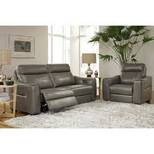 htl real leather power reclining sofa