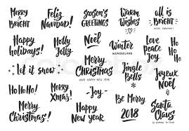 Holiday Wishes Quotes Beauteous Holiday Greeting Quotes And Wishes Isolated On White Hand Drawn