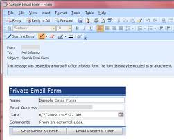 open outlook template using infopath e mail forms to communicate with external users mel