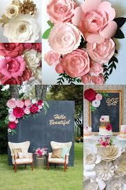 Wedding Paper Flower Centerpieces Giant Flower Centerpieces Small House Interior Design