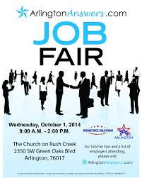 arlingtonanswers com fall job fair workforce solutions for final arlington answers job seeker flyer oct 2014