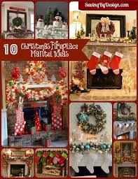 Fireplace Mantel Christmas Decorating Ideas  Christmas Lights Christmas Fireplace Mantel