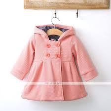 toddler girl peacoat fashion cotton new baby autumn winter horn on hooded pea coat outerwear jacket toddler girl peacoat