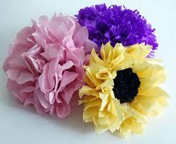 free tissue paper flower tutorial on craftsy