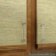 Painting Over Kitchen Cabinets Kitchen Cabinet Makeover With Burlap Shelf Liner Clear Acrylic Handlesjpg