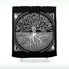 druid tree of life shower curtain curtains country