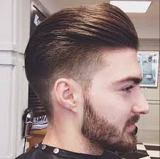 Slicked Back Hair Style mens hair tapered fade slick back look h a i r pinterest 7352 by wearticles.com