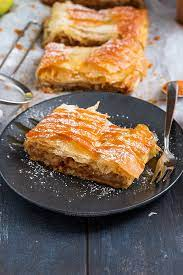 I usually make this dessert out of phyllo dough leftovers take phyllo dough out of the package and arrange it near a family recipe for the greek dessert baklava. Easy Apple Strudel Annie S Noms