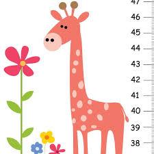 Canvas Growth Chart Giraffe Growth Chart Giraffe Jungle Safari Nursery Coral