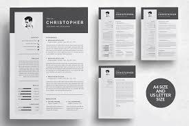 Modern Resume Templete 3 Pages Modern Resume Templatecv