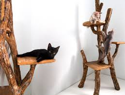 stylish cat furniture. Climb-a-Tree. If Your Playful Feline Enjoys Pretending That He Is The King Of Outdoors, Then Will Love This Handmade Cat Tree. Stylish Furniture