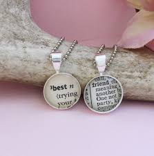 best friends pendants set of two small