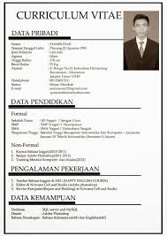 Contoh Resume Doc Resume For Your Job Application Regarding