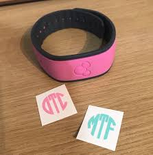 Light Pink Disney Magic Band Monograms Sized And Perfect For The Disney Magic Band Decal