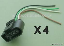 set of 4 audi vw skoda seat ford ignition coil connector plug pack image is loading set of 4 audi vw skoda seat ford