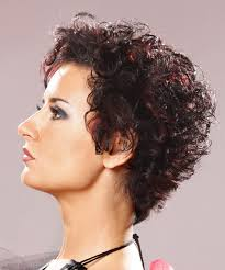 short curly cal hairstyle dark brunette side view