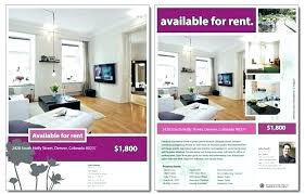 Apartment For Rent Flyer Template Sign Signs 1 Free Rental