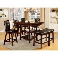 Furniture Of America Rathbun Modern 6 Piece Counter Height Dining