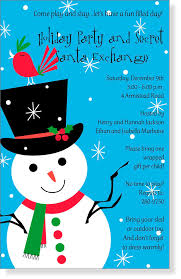 christmas invitations christmas invitations for special events snowman themed products