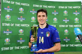 يورو 2020.. كييزا يتوج بجائزة أفضل لاعب فى مباراة إيطاليا ضد ويلز – يوم نيوز