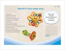 Sample Baby Milestones Chart 7 Documents In Pdf