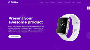 4 landing page using html css