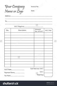 invoice book vector illustration bill pad stock vector  invoice book vector illustration of a bill pad template