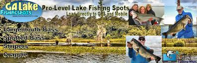 Lake Lanier Fishing Map Fishing Spots For Bass Striper Crappie