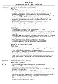 Community Manager Community Development Resume Samples Velvet Jobs