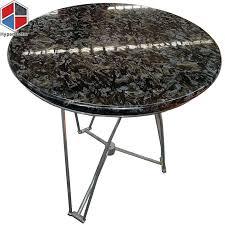 60cm black golden diamond granite dining table