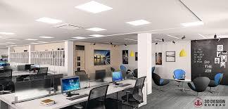 dublin office space. 3D Design Bureau, News, Interior Render Dublin Office Space