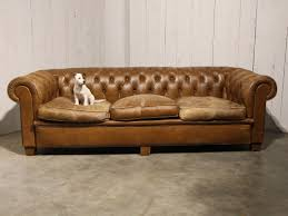 antique chesterfield sofa in brown leather