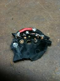 cbr installing ignition bypass resistor question pics cracked open the ignition switch to try and the stock resistor heres what i found