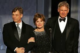 carrie fisher star wars 7. Mark Hamill Carrie Fisher And Harrison Ford To Reunite In Star Wars Episode VII On