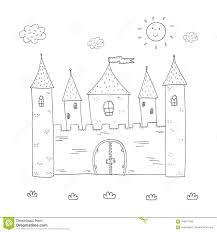 Progettazione Magica Del Castello Del Libro Da Colorare Per I