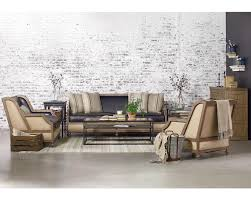 relax in style on our belgian inspired ter back foundation sofa loveseat and chair covered in old saddle black leather its deconstructed elements of