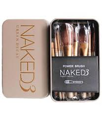 urban decay cosmetic makeup brush set of 12 with storage box