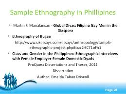 write about something that s important disadvantages of ethnography slideshare