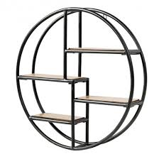 hanging storage shelf circular wall
