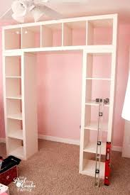 closet storage shelves unit genius shelving unit and desk using an perfect storage solution for a