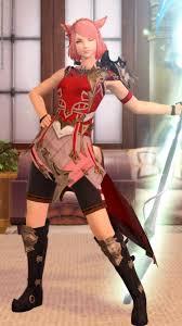 竜騎士編み込みカチューシャが似合う紅の竜騎士ミコッテ Mirapri