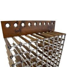 wood metal wine rack. Brilliant Rack Custom Wood And Metal Wine Rack In I