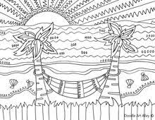 Small Picture Beach Coloring Pages Free printables Pinterest Beach Adult