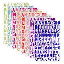 Amazon.com: Sunmns Colorful Glitter Letter Gift Alphabet Sticker ...
